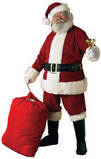santa costume santa suit men ebay