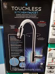one touch kitchen faucet royal line touchless chrome kitchen faucet