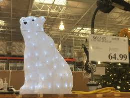 Polar Bear Christmas Outdoor Decoration Led Lights by Led Lights Holiday Decor At Costco U2013 Costcochaser