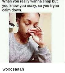 You Crazy Meme - when you really wanna snap but you know you crazy so you tryna