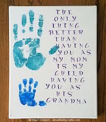 baby handprint gifts for grandpas style by modernstork com