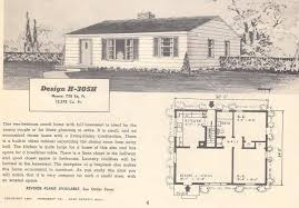 1950s Ranch House Plans Vintage House Plans 305h Antique Alter Ego