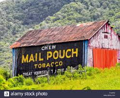 Pennsylvania travel pouch images Vintage americana advertising chew mail pouch tobacco on painted jpg