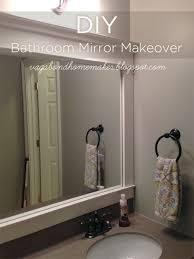 Diy Bathroom Mirror by Best 10 Bathroom Mirror Redo Ideas On Pinterest Redo Mirror