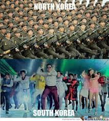 North Korea South Korea Meme - north korea s communist army vs south korea s oppa gangnam style