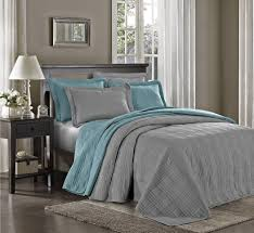 Grey Quilted Bedspread Amazon Com Chezmoi Collection Kingston 3 Piece Oversized