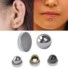 lip rings sale images Magnetic fake cartilage labret ball for ear chin lip monroe nose jpg
