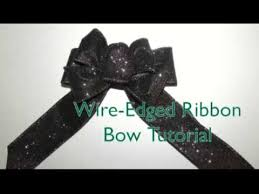 wire edged ribbon wire edged ribbon bow tutorial