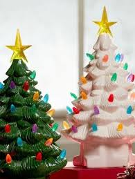 ceramic christmas tree with lights cracker barrel tabletop ceramic christmas tree snow tipped branches 16 inch tall