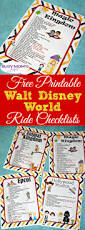 Printable Map Of Disney World by Free Printable Walt Disney World Ride Checklists Busy Moms Helper
