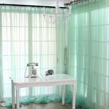 Seafoam Green Sheer Curtains Sheer Cortina De Janela Voile Cortinados De Sala String Curtains