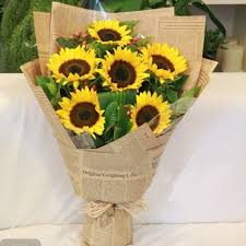 sunflower wrapping paper 10pcs lot 50 75cm newspaper flower wrapping paper wrap gift