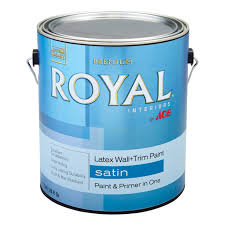 Home Depot 5 Gallon Interior Paint by Royal Interior Latex Satin Wall U0026 Trim Paint Gallon Interior