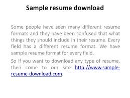 Download Free Sample Resume by 65 Best Sample Resume Download Images On Pinterest Sample Resume