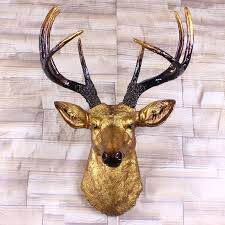 wooden stag wall stag wall decoration wooden stag wall decoration