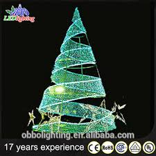 green spiral lighted tree 3d outdoor green metal lighted christmas trees buy white outdoor