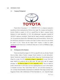 toyota motor group toyota swot analysis docshare tips
