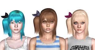 asymmetric bob haircut id 762 by peggy zone sims 3 hairs
