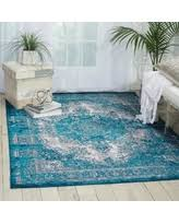 Teal Living Room Rug by Check Out These Summer Savings Nourison Aria Ar005 Oriental