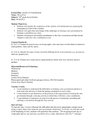 Resume Sample Promotion Within Company by Articles Of Confederation Lesson Plan United States Constitution