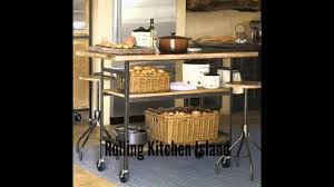 rolling kitchen island youtube