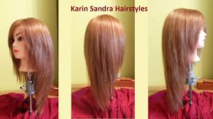 long layered v haircut tutorial haircut face framing layers