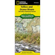 Topographical Map Of Tennessee by 781 Tellico And Ocoee Rivers Cherokee National Forest Trail Map