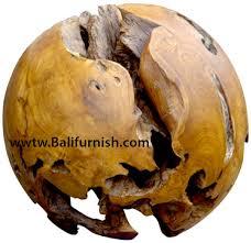 teak wood balls bali crafts