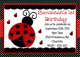 ladybug birthday party invitations cimvitation