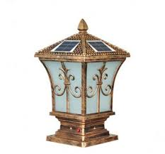 solar powered pillar lights european style gate post light both way power by sun or traditional