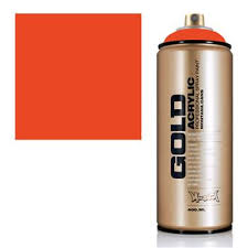 montana gold spray paint matte acrylic color red orange i want