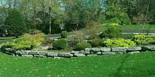large limestone blocks make for easy walls and nice garden borders