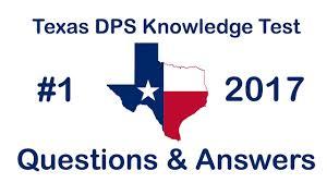 texas dps written knowledge test 1 youtube