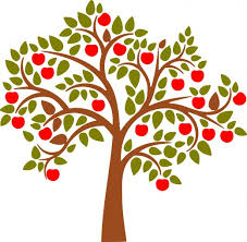 modern apple tree clipart