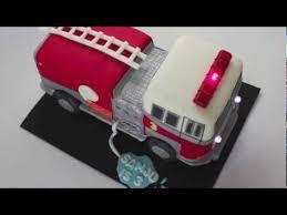 firetruck cake truck cake