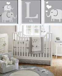Extremely Gray And White Baby Nursery Decor Elephant Grey Simple