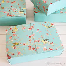 commercial wrapping paper big blue flower birds decoration bakery package dessert candy