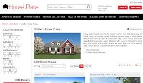 Builder House Plans by 4 Great Websites For Finding Starter Home Plans