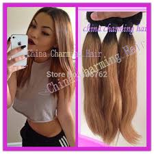 dyed weave hairstyles new style 1b 27 honey blonde dark root straight ombre 2 tone