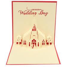 3d Invitation Card Handmade 3d Pop Up Wedding Day Greeting Card Invitation Card At
