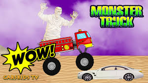 monsters truck videos fire trucks monster truck stunt cars and trucks for kids monster