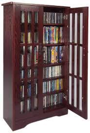 leslie dame media storage cabinet amazon com leslie dame m 371dc high capacity inlaid glass mission