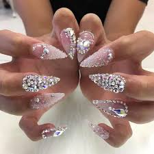 best 25 bling nails ideas on pinterest bling acrylic nails
