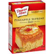 duncan hines signature pineapple supreme cake mix 16 5 oz box