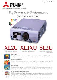download free pdf for mitsubishi sl2u projector manual