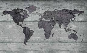 world map concrete texture wall paper mural buy at europosters
