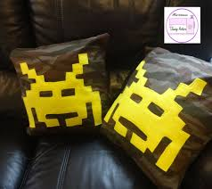 nerdy home decor retro gaming cushion pdf sewing pattern gift for gamer alien
