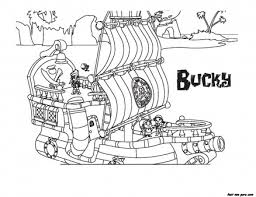 jake land pirates bucky coloring book pages