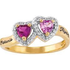 Personalized Keepsake Personalized Keepsake Heartbeat Ring Walmart Com