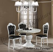 prestige round dining table and 4 chairs white u0026 silver